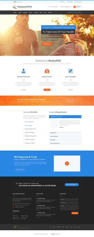 Modern, Serious, Health And Wellness Landing Page Design for Restore