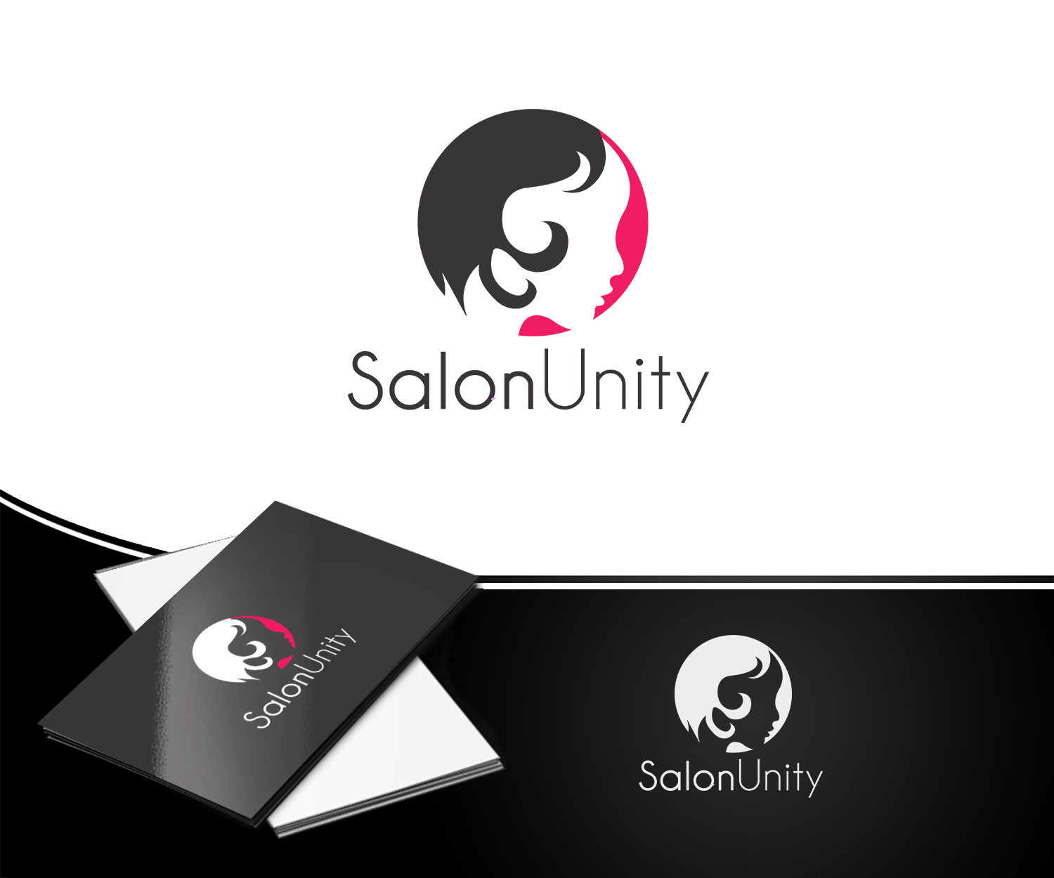 Salon Creation Modern Elegant Hair And Beauty Logo Design For Salon Unity By