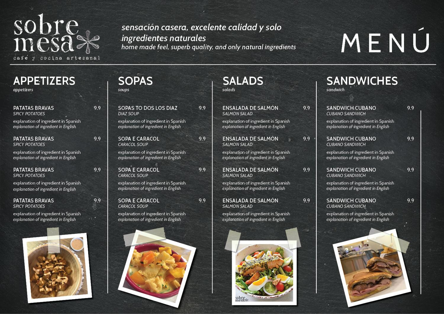 La Cocina Restaurant Menu Modern Conservative Restaurant Menu Design For A Company By
