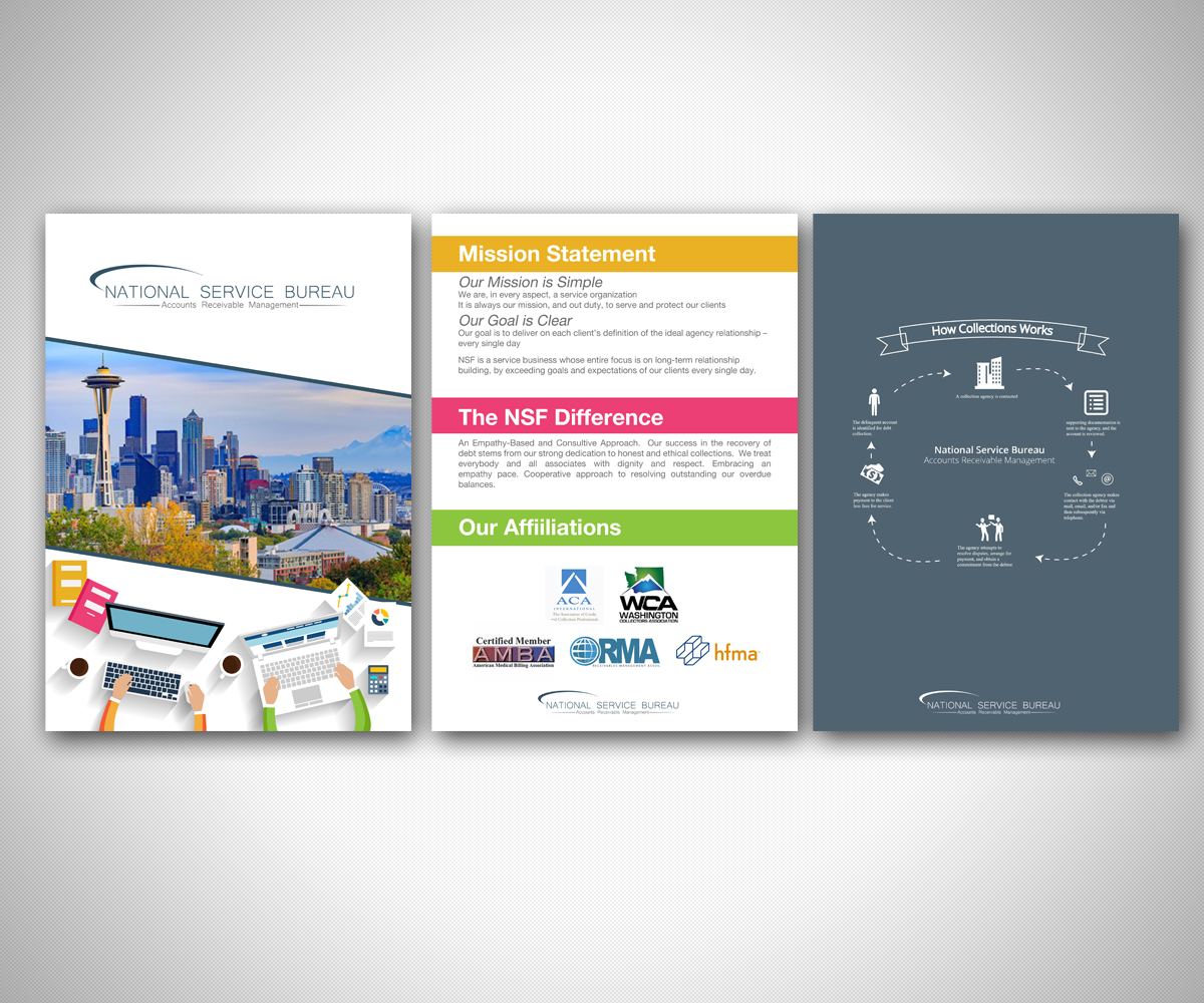 Design Bureau Llc Elegant Playful Credit Card Flyer Design For Rightaway