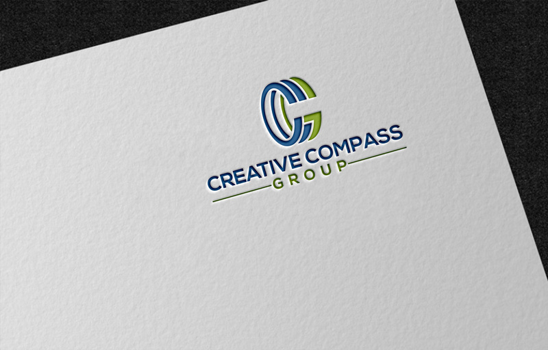Modern, Masculine Logo Design for Creative Compass Group by