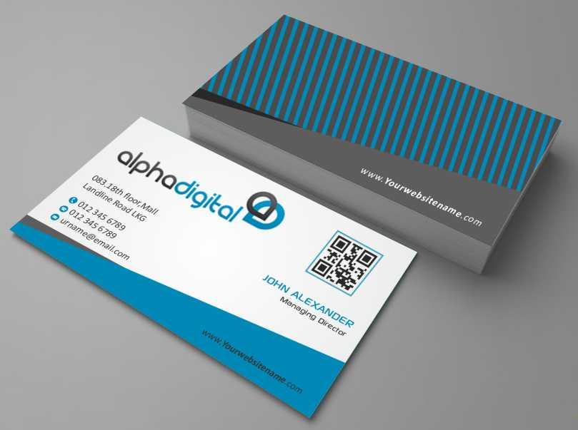 Elegant, Traditional, Digital Business Card Design for Alpha Digital