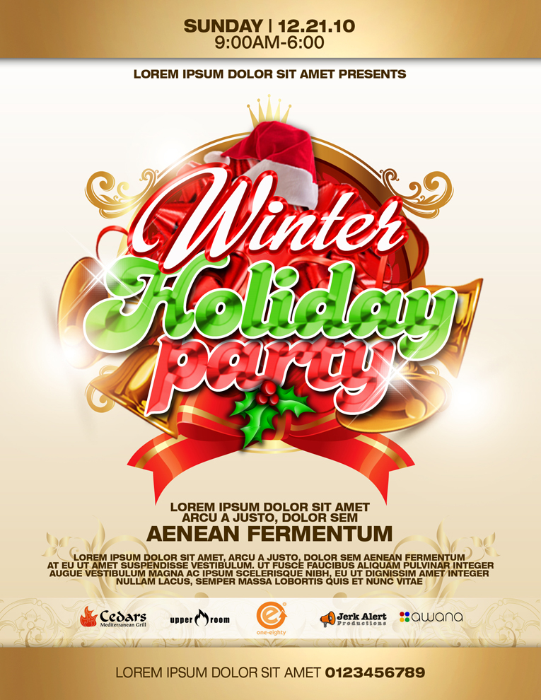 Flyer Design for Mike Judkins by disign Design #104777 - holiday party flyer template