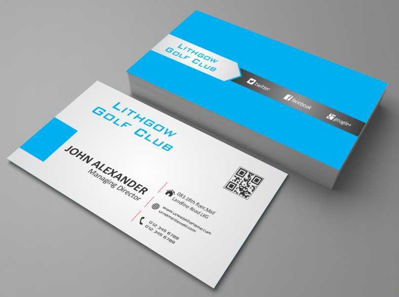 Business Business Card Design for Lithgow Golf Club by AwsomeD - club card design