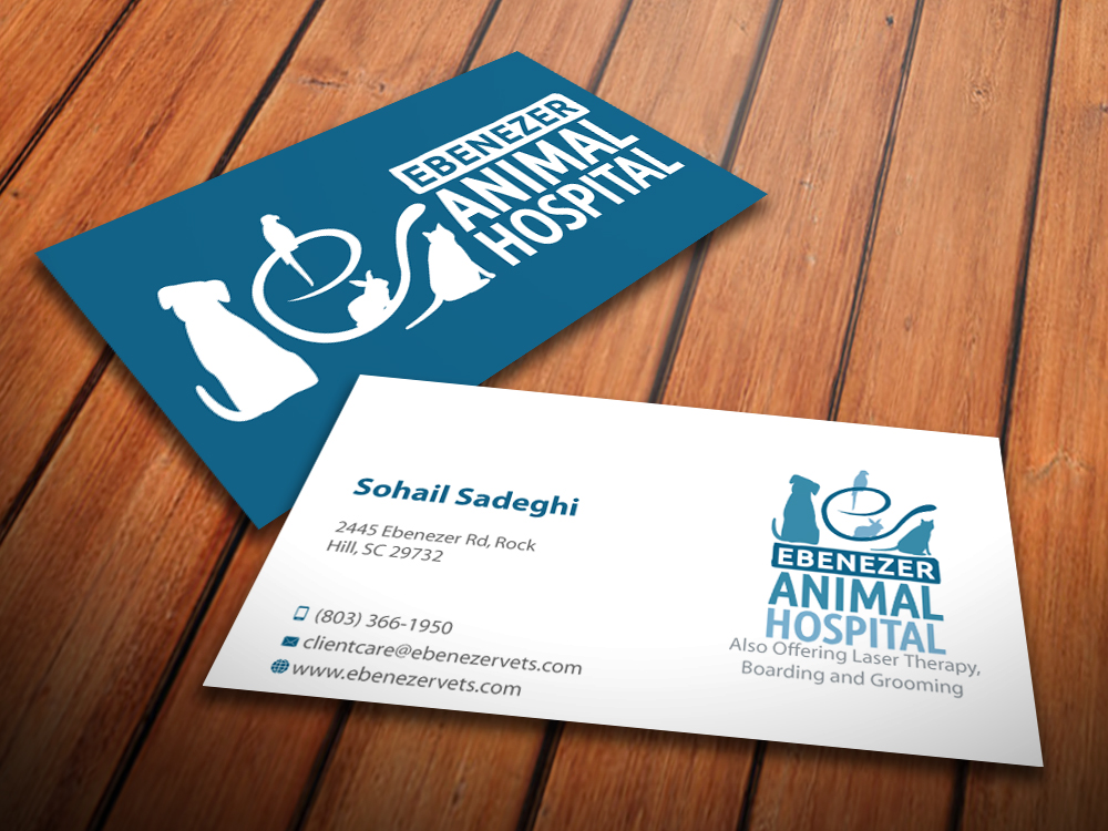 Veterinary Business Card Design for a Company by MediaProductionArt