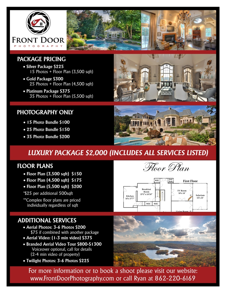 Serious, Professional, Real Estate Flyer Design for Front Door