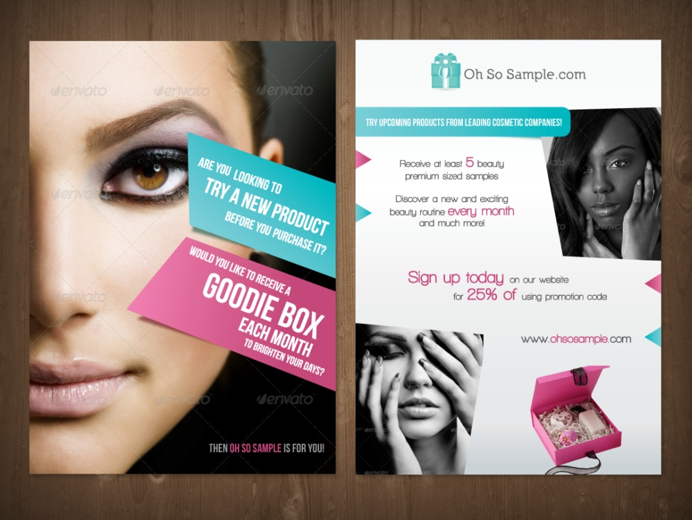Masculine, Modern, It Company Flyer Design for Oh So Sample by MNM