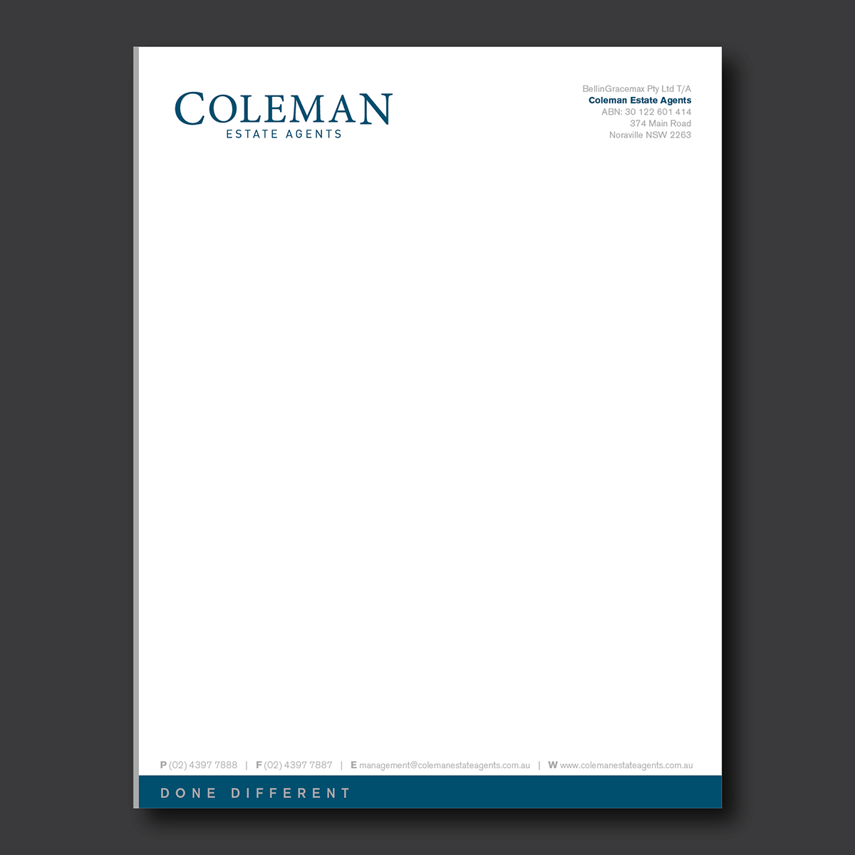 Writing German Letters For Business Bright Hub Education Letterhead Design For Coleman Estate Agents By Dotnot