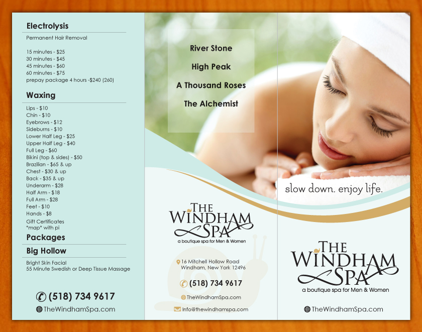 Upmarket, Playful, Business Brochure Design for The Windham Spa by