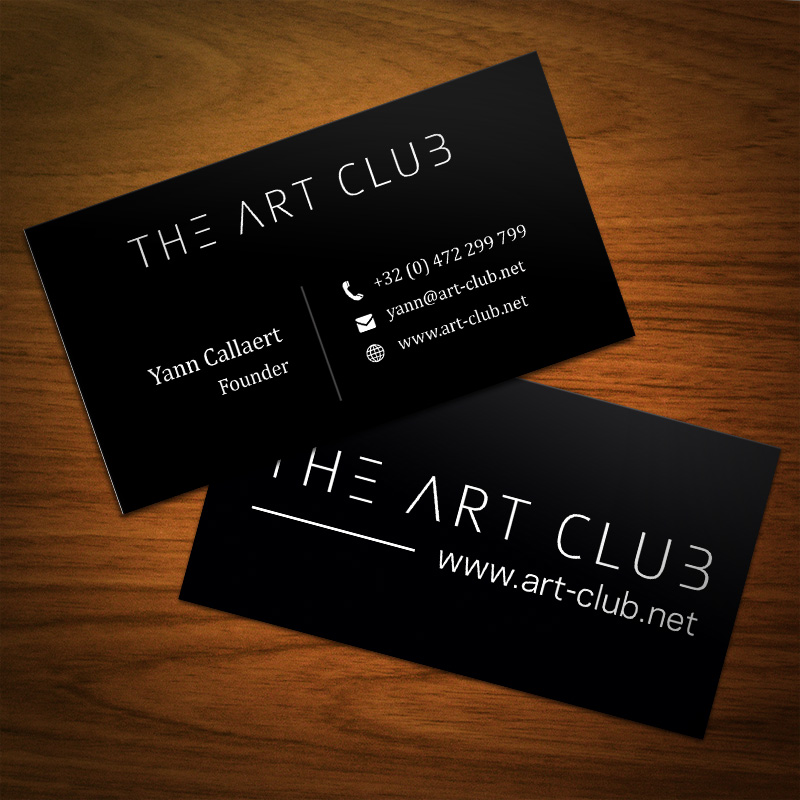Upmarket, Serious, Artists Business Card Design for CAOS vof by - club card design