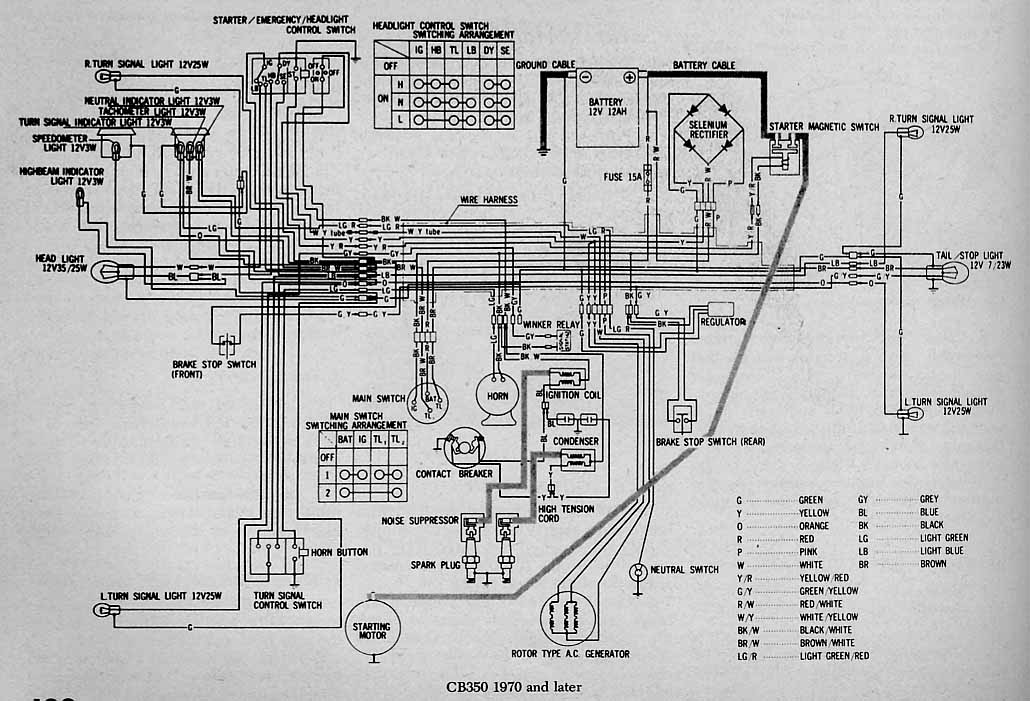 110 Atv Wiring Schematics Honda Cb350 Dc Classic Cycles