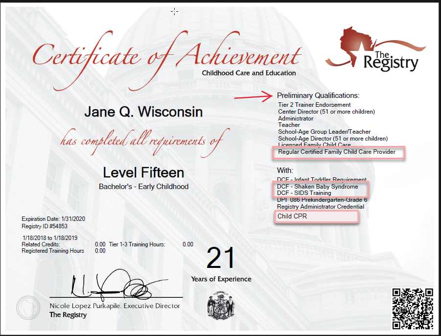 61 The Registry and Entry-Level Training