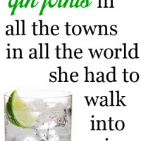 thirsty thursday: gin & tonic