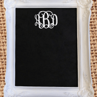 monogram monday: chalkboard frame