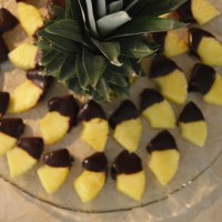Chocolate Dipped Pineapple
