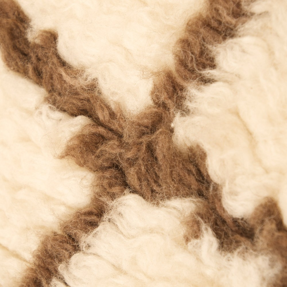 Berber Shaggy Berber Shag Rug Off White And Chocolate Dcg Stores