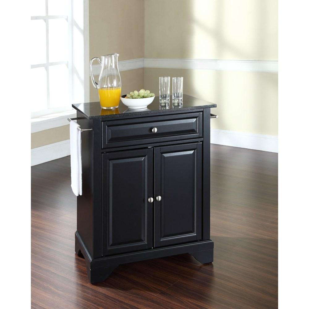 Portable Kitchen Island With Granite Top Lafayette Solid Black Granite Top Portable Kitchen Island