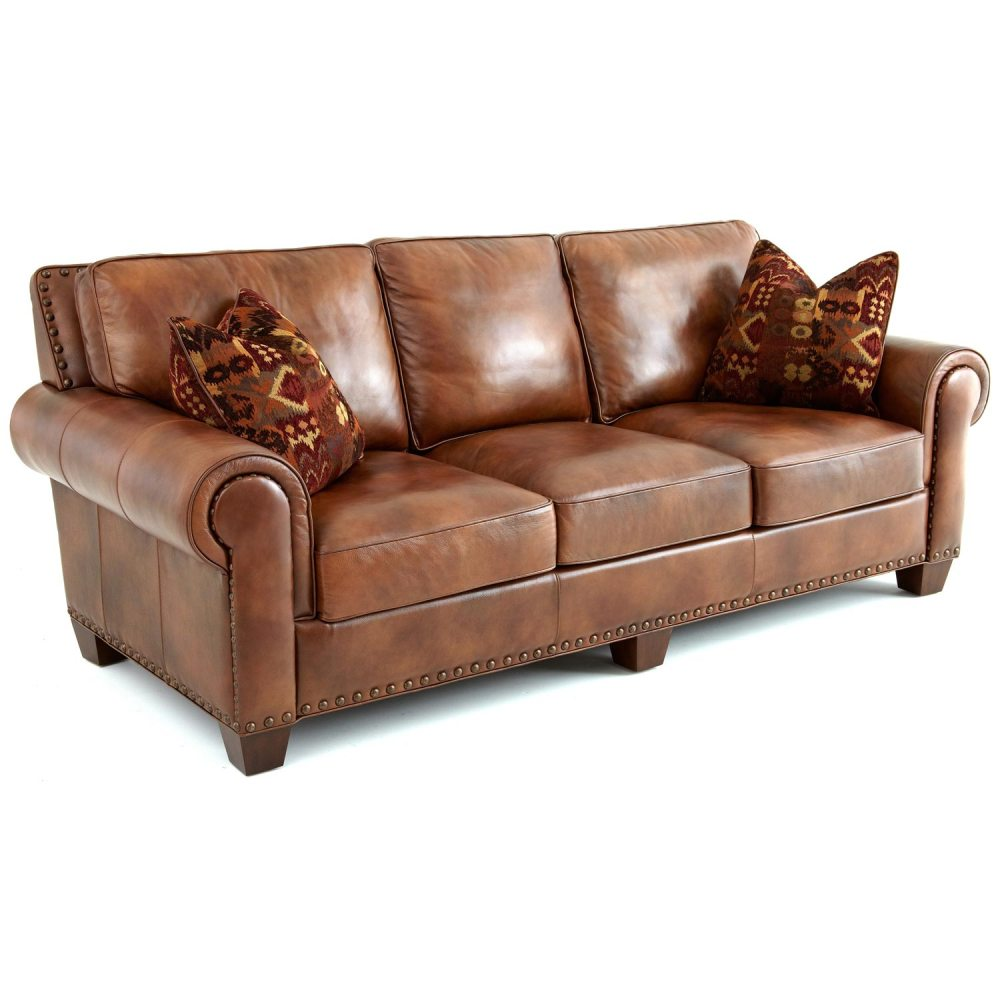 Cushions For Brown Leather Sofas Silverado Sofa Rolled Arms Pillows Caramel Brown