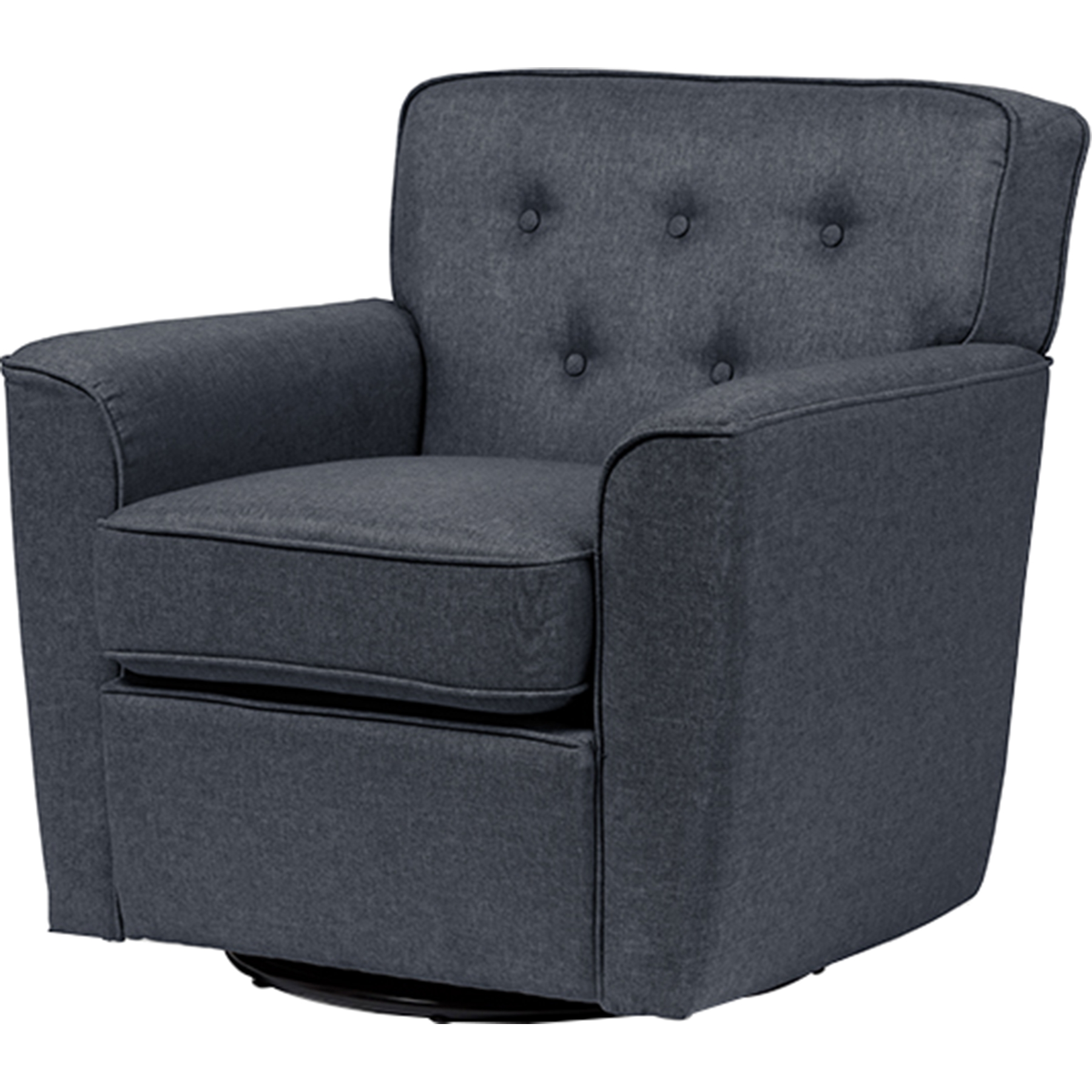 Office Chairs Canberra Canberra Fabric Upholstered Swivel Lounge Chair Button Tufted Gray
