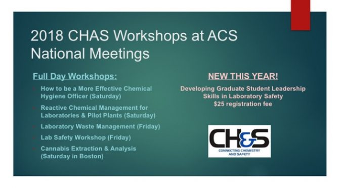 Technical presentations ACS Division of Chemical Health and Safety