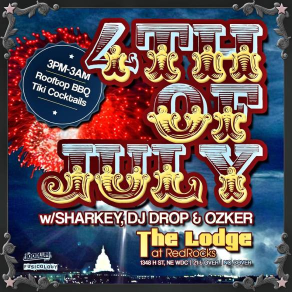 4th of July from the rooftop with Ozker, Sharkey & DJ Drop at the Lodge at Red Rocks