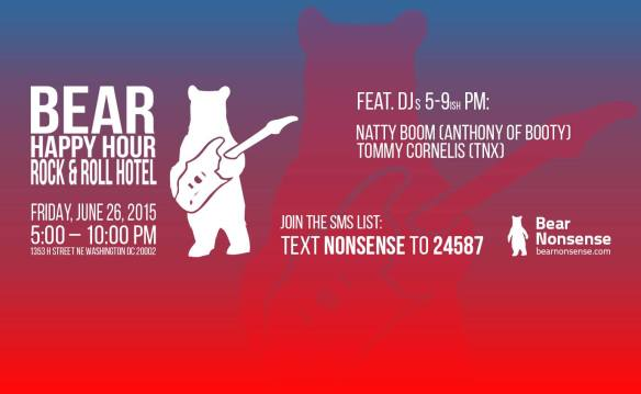 Bear Nonsense Bear Happy Hour with Natty Boom and Tommy Cornelis on the Rock & Roll Hotel  Rooftop