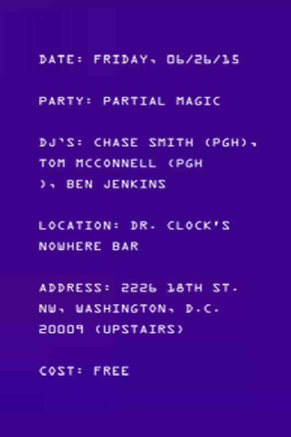 Partial Magic at Dr. Clock's Nowhere Bar