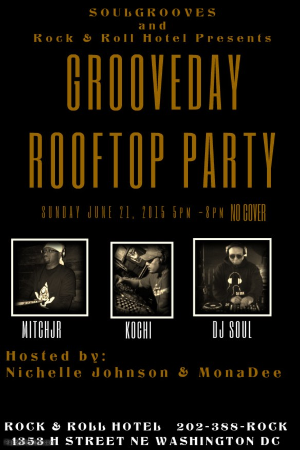 Grooveday Happy Hour with DJ Soul, Kochi & Mitchjr on the Rock'n'Roll Hotel Rooftop