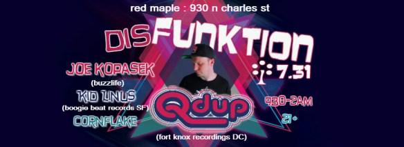 DisFUNKTION! Q'DUP, Joe Kopasek, Kid Linus, Cornflake at The Red Maple, Baltimore