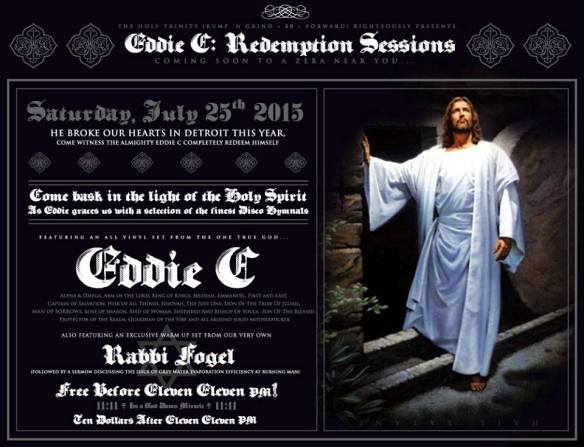 Bump'n'Grind presents Eddie C: The Redemption Sessions at Zeba Bar