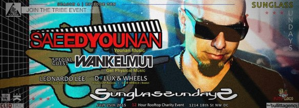 Sunglass Sundays Saeed Younan, Wankelmut, Leonardo Lee, D-LUX & Wheels at Public Bar