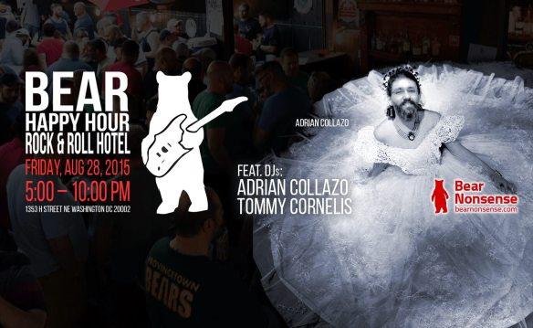 Bear Nonsense Bear Happy Hour feat DJs Adrian Collazo, Tommy Cornelis at Rock & Roll Hotel