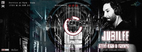 Church presents Jubilee & Steve Kirn at The Huxley