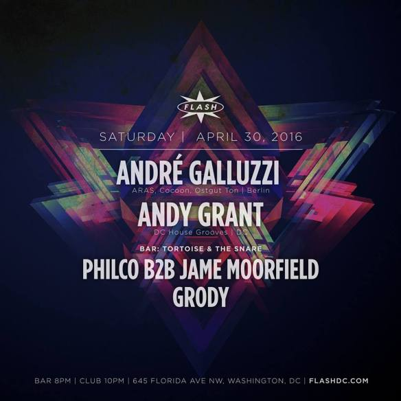 André Galluzzi and Andy Grant at Flash with PHILCO B2B Jame Moorfield and Grody in the Flash Bar - Andy Grant's Birthday Bash