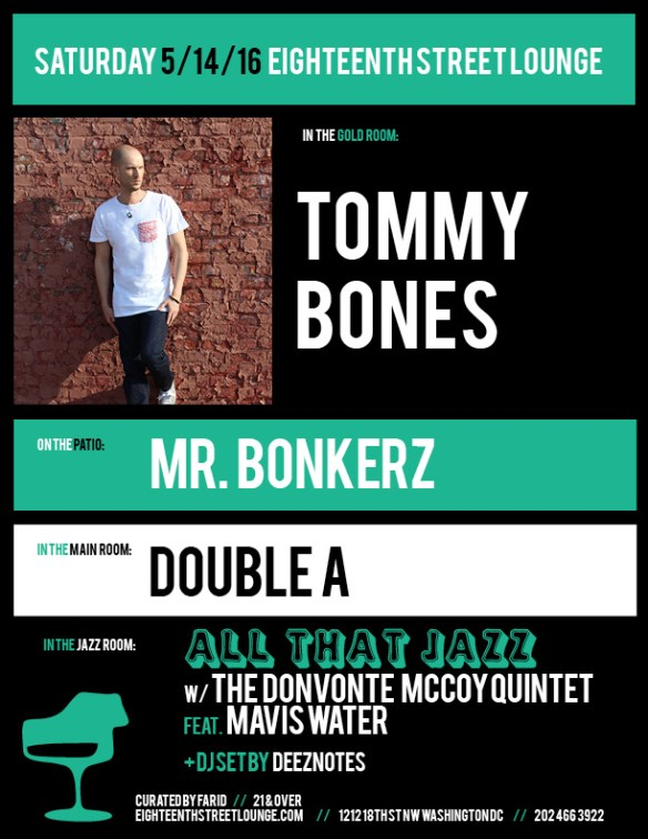 ESL Saturday with Tommy Bones, Mr Bonkerz, Double A and Deeznotes at Eighteenth Street Lounge