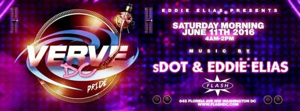 Verve DC Pride Edition After Party with sDot & Eddie Elias at Flash