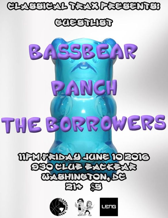 Classical Trax x Guestlist: Bassbear with Panch & The Borrowers at Backbar