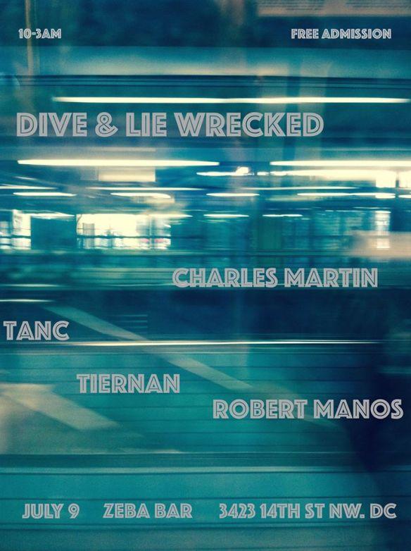 Dive & Lie Wrecked featuring Tanc & Tiernan, Robert Manos and Charles Martin at Zeba Bar