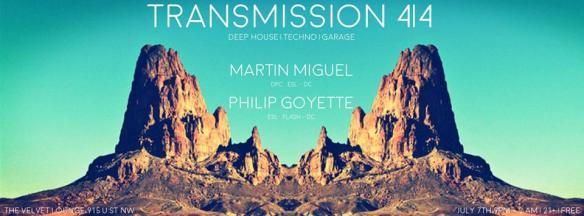 Transmission 4|4 w/ Martín Miguel & Philip Goyette at Velvet Lounge