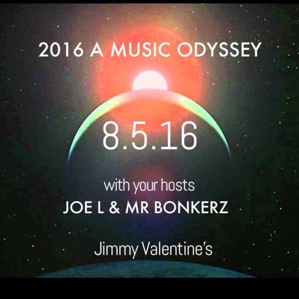 2016 A Music Odyssey with Joe L and Mr Bonkerz at Jimmy Valentine's Lonely Hearts Club