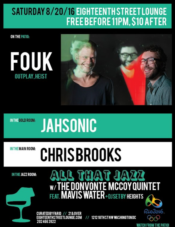 ESL Saturday with Fouk, Jahsonic, Chris Brooks & Heights at Eighteenth Street Lounge
