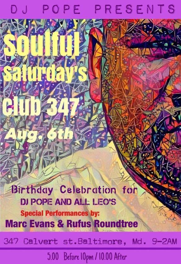 Soulful Saturdays at Club 347, Baltimore