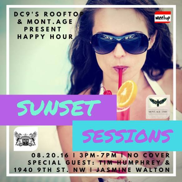 DC9s rooftop presents Sunset Sessions Saturday Happy Hour feat. Tim Humphrey & Jasmine Walton at DC9 Nightclub