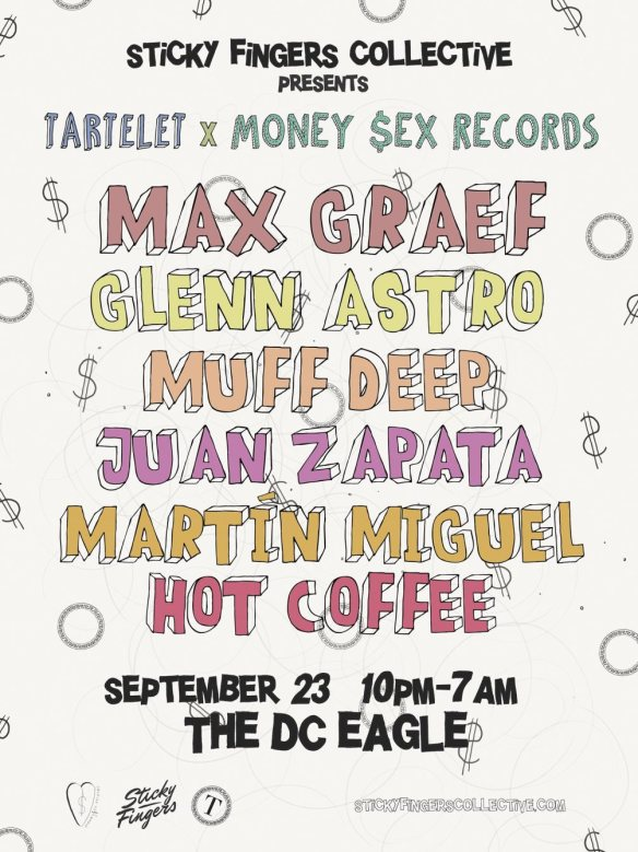 Sticky Fingers Collection Presents Max Graef, Glenn Astro, Muff Deep, Juan Zapata, Martín Miguel & Hot Coffee at Cigar Bar at the DC Eagle