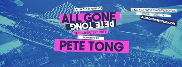All Gone Pete Tong at Soundcheck