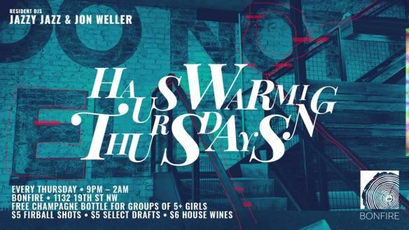 Hauswarming Thursdays with Jazzy Jazz and Jon Weller at Bonfire