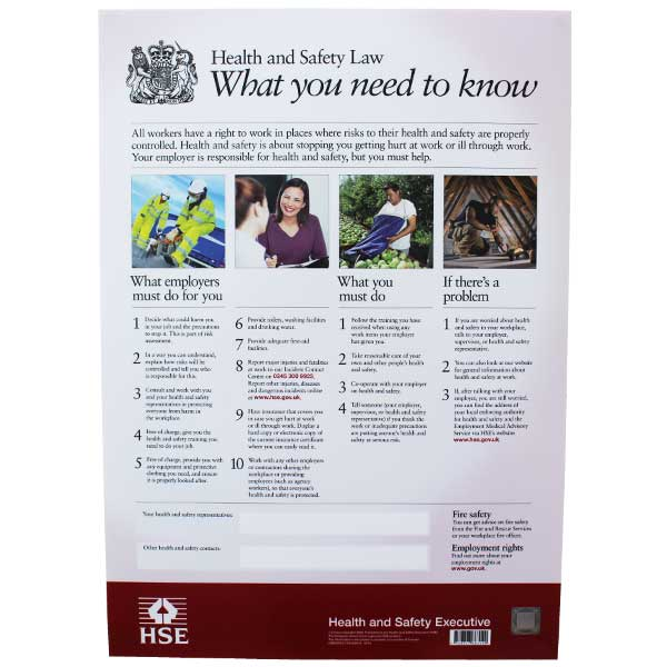 HSE Law Poster Safety Signs 4 Less - product poster