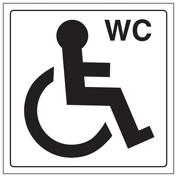 Wc Symbol General Information Door Signs | Safety Signs 4 Less