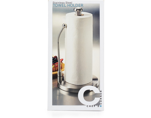 Cook39s Corner Paper Towel Holder Stainless Steel Boxed