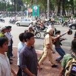 Nguyễn Văn Hải (blogger Điếu Cày) bị công ăn trấn áp tại Sài Gòn